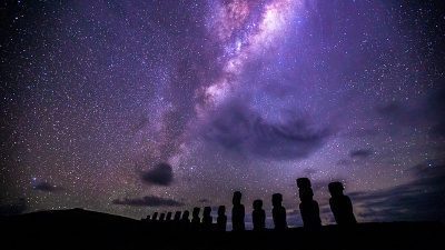 Image: Easter Island under the Milky Way