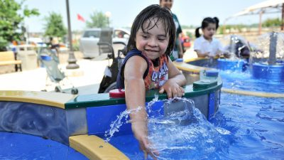 Image: Child playing at Morgan's Wonderland water park!