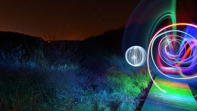Image: Light painting of orbs