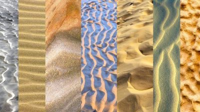 Image: Collage of sand textures
