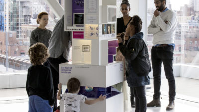 Image: A family exploring a MICRO museum