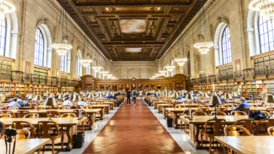 Image: Research room of the New York Public library