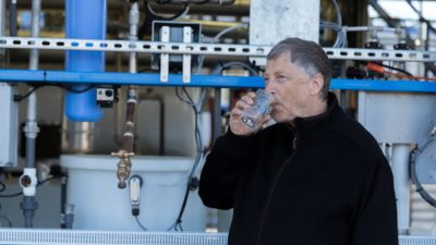 Image: Bill Gates drinks water from Omniprocessor