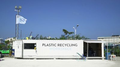 Image: Precious Plastic recycling center in the Maldives